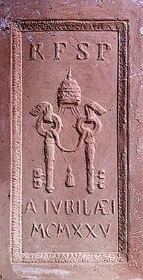 mattone porta santa 1925 Storia delle Fornaci Giorgi   Antiche Fornaci Giorgi 1735 Ferentino Frosinone