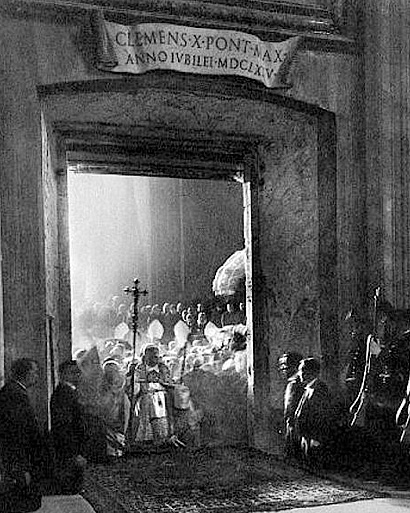 porta santa apertura 1925 Storia delle Fornaci Giorgi   Antiche Fornaci Giorgi 1735 Ferentino Frosinone