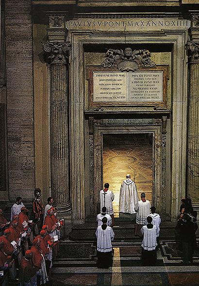 porta santa apertura 1983 Storia delle Fornaci Giorgi   Antiche Fornaci Giorgi 1735 Ferentino Frosinone